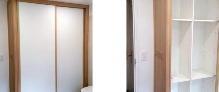 Fabrication et pose d'un placard dans une salle de bain